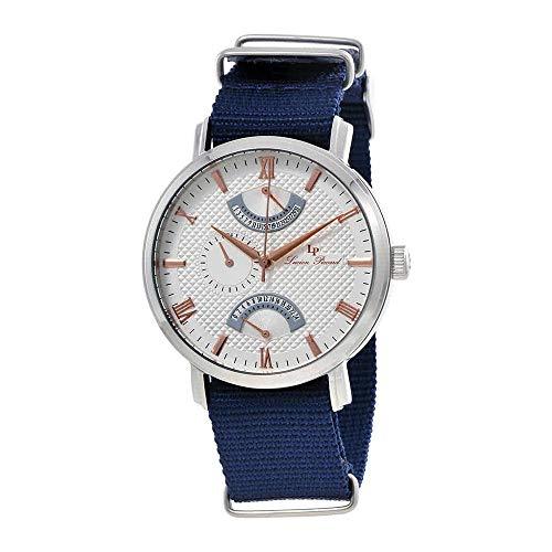 Lucien Piccard Multi-Function Nylon Strap Men's Watch 10340-02S-RA-NBNS ()