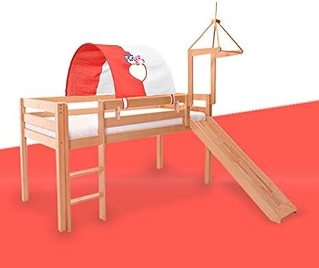 100 cm colore: Blu Tenda a tunnel per letto a soppalco per letto singolo larghezza 90 HI Suyi