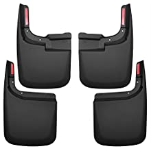 Husky Liners 58466 Set Black Front & Rear Mud Guards Fits 15-17 F150 Without OE Flares