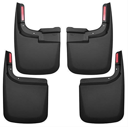 Super Duty Splash Guards - Husky Liners 58466 Set Black Front & Rear Mud Guards Fits 15-17 F150 Without OE Flares
