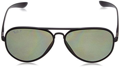 322996a1a87 Ray Ban RB4180 Liteforce Tech Sunglasses 601S 9A Matte Black (Polarized  Green Lens)