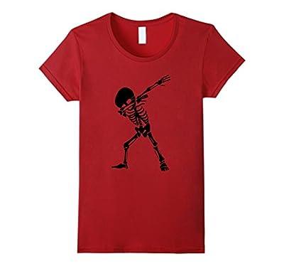 Dabbing Skeleton Shirt - Funny Halloween Skull Dab T-Shirt
