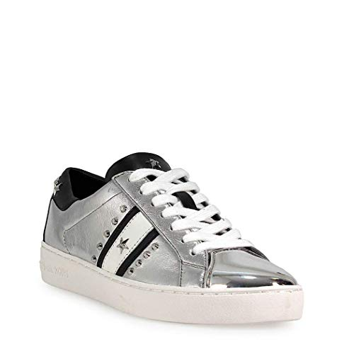 571defe0d Amazon.com | Michael Kors Women's Frankie Metallic Leather Striped Sneakers  | Fashion Sneakers