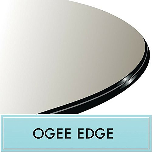 42'' Round Glass Table Top 1/2'' Thick Ogee Edge by Spancraft Glass