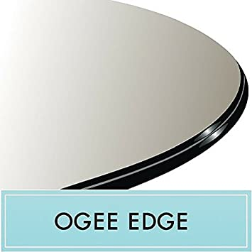 Ordinaire 26u0026quot; Round 1/2u0026quot; Thick Clear Glass Table Top With Ogee Edge