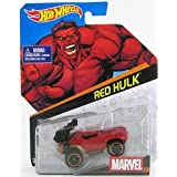 Hot Wheels Marvel Character Car Red Hulk # 23 1:64 Scale