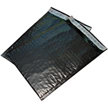 #0 Poly 6x10 Bubble Mailers Envelopes Bags Dvd Cd Bag (Black 100 Count)