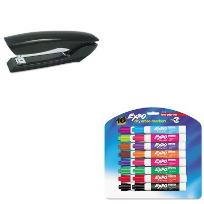 KITBOSB326BLKSAN81045 - Value Kit - Stanley Bostitch Antimicrobial Full Strip Stapler (BOSB326BLK) and Expo Low Odor Dry Erase Markers (SAN81045)
