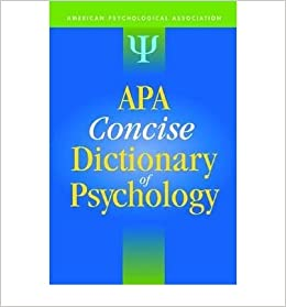 the concise dictionary of psychology