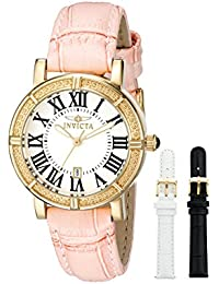 Women's 13968 Wildflower Gold-Tone Stainless Steel Watch with Two Additional Straps