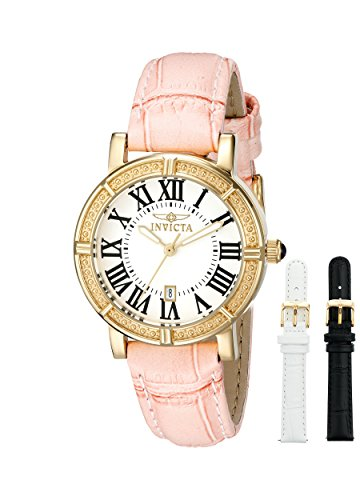 Invicta Women's 13968 Wildflower Gold-Tone Stainless Steel Watch with Two Additional Straps ()