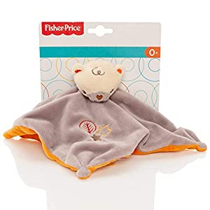 Fisher Price Baby 2 Tone Soft Bear Comforter With Rattle – Comfort Security Blanket