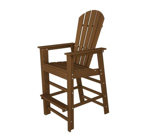 Outdoor Beach Bar South (POLYWOOD SBD30TE South Beach Bar Chair, Teak)