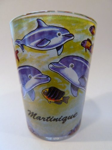 - Martinique Dolphins In-and-Out Shot Glass