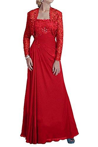 mit Etuikleider Damen Kleid Ballkleider Abendkleider Braut Marie Rot Bolero La Spitze Partykleider Jugendweihe CTvwqHxU