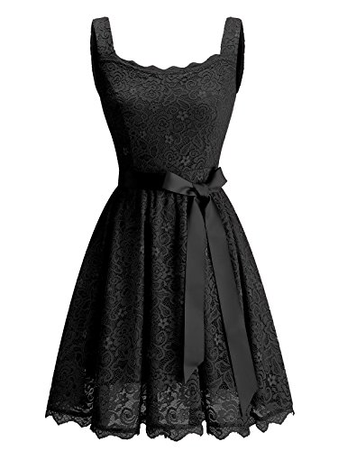 BeryLove Women s Floral Lace Bridesmaid Dress Short Prom Cocktail Party  Dress 6c0414f7e77b