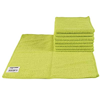 OxGord Microfiber Cleaning Cloth 32pc Pack Bulk - Duster Rag Sponge for Car Wash Auto Care Thick Large for Glasses Kitchen Dish: Automotive