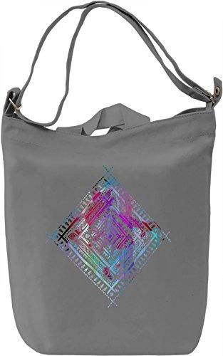 Ethnic Sign Borsa Giornaliera Canvas Canvas Day Bag| 100% Premium Cotton Canvas| DTG Printing|