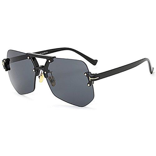 Sole Moda Per Donna Piloti Cancella Blu Nero Da Trasparente Gli Irregolare I Oversize Occhiali Giallo Rosa Ins Cornice Di 0nwkP8O