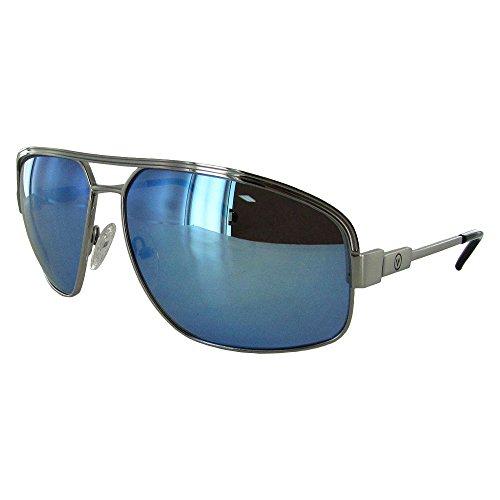 Revo Sunglasses Men's Revo Bono Collection Stargazer Aviator, Chrome, Blue ()