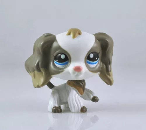 DEEJOE Cocker Spaniel Dog Puppy Grey Gray White Mocha LPS Action Figure 2