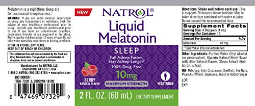 Amazon.com: Natrol Natrol Melatonin Liquid 10mg 2oz Tincture, 2 Fluid Ounce: Health & Personal Care