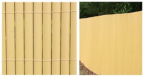 By Papillon Artificial Bamboo Cane Plastic Garden Fence Screening Roll Privacy Border Wind//Sun Protection 4.0 x 2.0m 13ft 1in x 6ft 6in