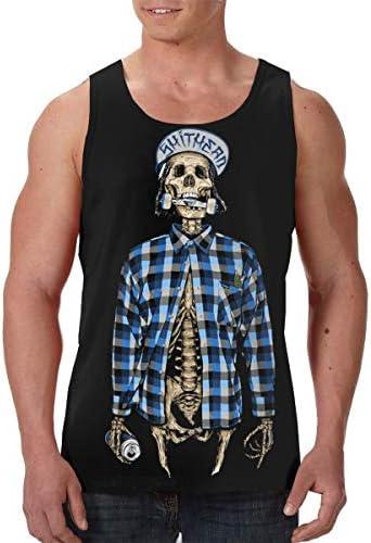 Skull Rider ランニング ジョギング 男性の筋肉タンク 通気性 速乾