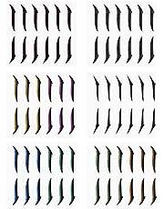 Adesivos reutilizáveis de eyeliner, eyeliner Stickers Eye Line Strip Stickers 36 pares de autocolantes auto-adesivos com brilho e eyeliner Stickers para beleza e cuidados pessoais