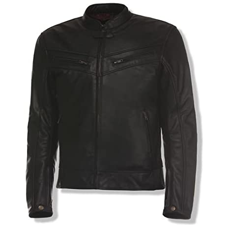Olympia Mens Vincent Leather Jacket Black Small MLJ1702BK-S