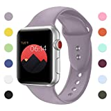 YOUKEX Sport Band For Apple Watch,Soft Silicone Strap Replacement Wristbands For Apple Watch Sport Series 3 Series 2 Series 1 NIKE+ Sports and Edition (concrete 38mm M/L)
