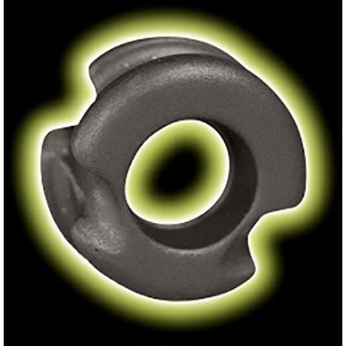 Radical Archery Designs Super Deuce 38 Glow Sight Peep 1/4 Grey ()