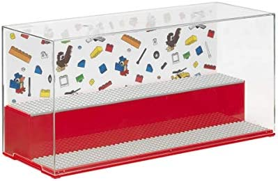 Room Copenhagen, Lego Play and Display Case - Includes Baseplates and Backdrop - Iconic Red (40700001)