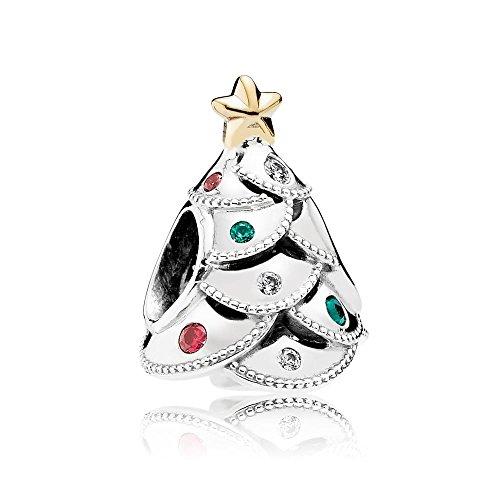 Pandora Charm trinket 791999CZRMX Femmes Argent et or sapin de Noël