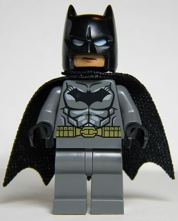 LEGO DC Comics Super Heroes Batman Minifigure - Batman Dark Gray Gold Belt