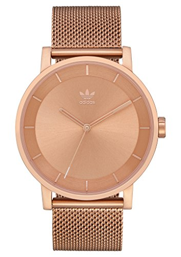 adidas Watches District_M1. Milanese Stainless Steel Bracelet, 20mm Width (All Rose Gold. 40 mm). ()