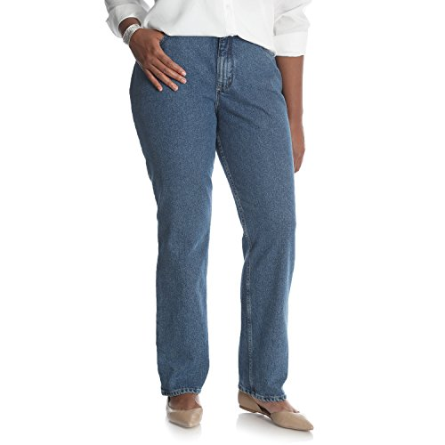 Riders by Lee Indigo Women's Plus Size Camden Relaxed Fit 5 Pocket Jean, Hedgestone, 24W
