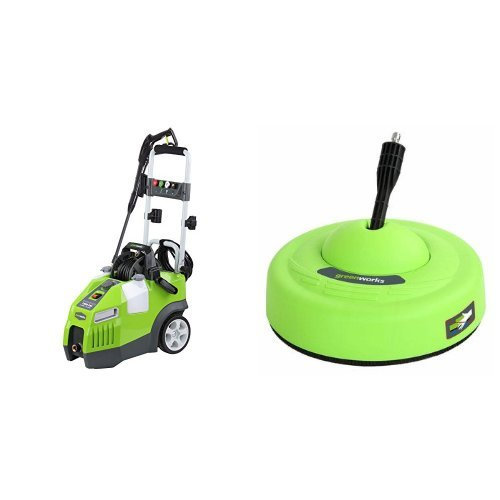 Greenworks 1950 PSI 1.2 GPM Pressure Washer + Surface Cle...