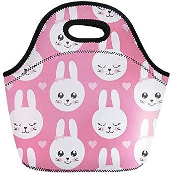 7d3cb0b729ec Amazon.com: Semtomn Lunch Bags White Character Cute Rabbit Kawaii ...
