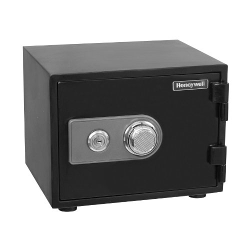- Honeywell Safes & Door Locks - 2101 Steel Fireproof and Waterproof Security Safe with Dual Dial and Key Lock Protection, 0.50-Cubic Feet, Black