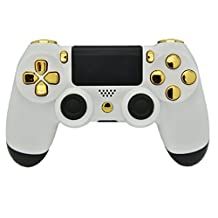 White & GOLD PS4 Rapid Fire Modded Controller, Works With All Games, COD, Rapid Fire, Dropshot, Akimbo & More