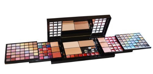 Cameo All in One Makeup Kit (84 Eyeshadows,12 Lip Glosses,6 Blushes,1 Lip Liner Pencil,4 Applicators,26 Lip Colors,6 Body Glitters,3 Pressed Powders,1 Eyeliner Pencil,1 Brush)