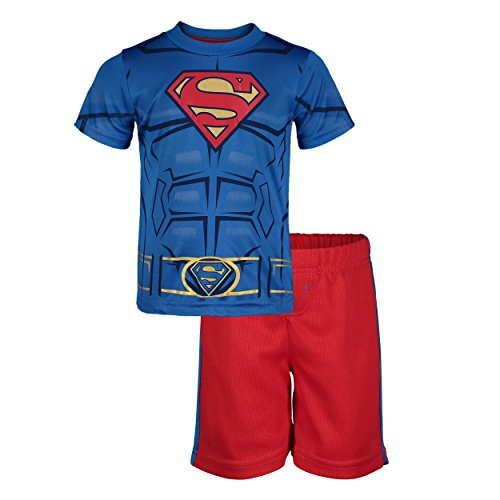 Superman Toddler Boys' Athletic Performance T-Shirt & Mesh