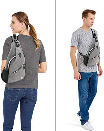 MOSISO Sling Backpack, Multipurpose Crossbody Shoulder Bag Travel Hiking Daypack