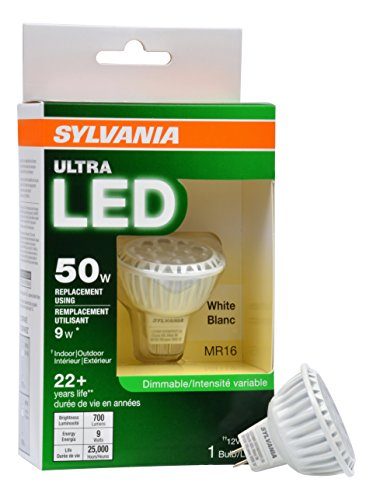 Sylvania 74043 Ultra Dimmable Led Light, 9 Watts](Sylvania Mr16 50w)