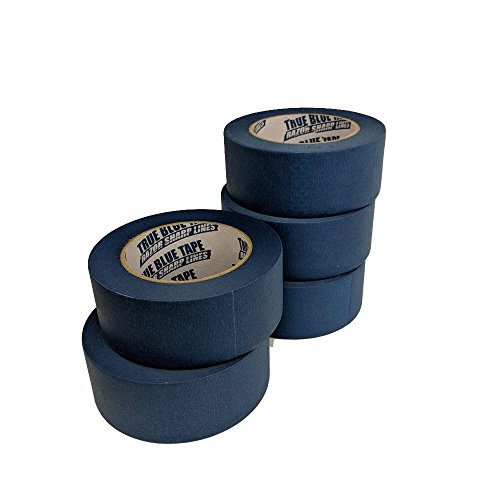 True Blue Premium Blue Professional Painter's Masking Tape – Indoor and Outdoor Use – Commercial Grade - Available in 2 Widths – Works on a Variety of Surfaces (2 Inch, 4-Pack) by True Blue (Image #2)