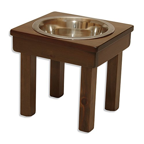 - OFTO Raised Dog Single or Double Bowls - Solid Wood Cat and Dog Bowl Stands, with Embossed Stainless Steel Bowl(s) -Large, Medium, and Universal Sizes - Eco-Friendly and Non-Toxic - Made in The USA