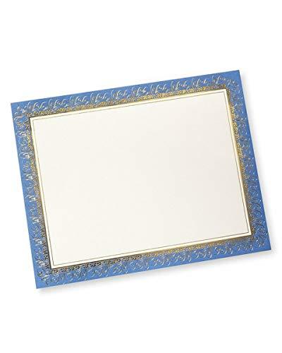- Blue & Gold Foil Certificate Paper - 15 Count