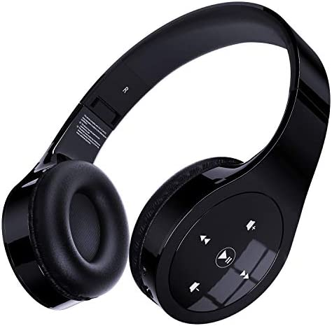 Memzuoix Bluetooth Headphones, Unique Wireless Headset Over-Ear with Gesture Touch Control, Hi-Fi Sound and Soft Earpads, Built-in Mic, Wired/Wireless Headphones for Home Office Online Class