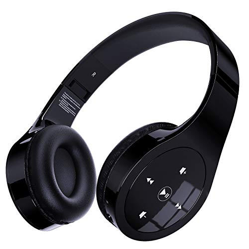 Memzuoix Bluetooth Headphones, Unique Wireless Headset Over-Ear with Gesture Touch Control, Hi-Fi Sound and Soft Earpads…